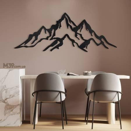 Деревянное декоративное панно Горы