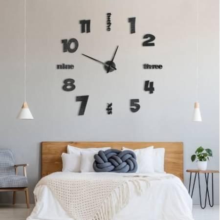 Интерьерные настенные часы (настенные часы) с надписями