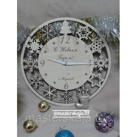 Интерьерные настенные часы (настінні годинники) декоративные новогодние