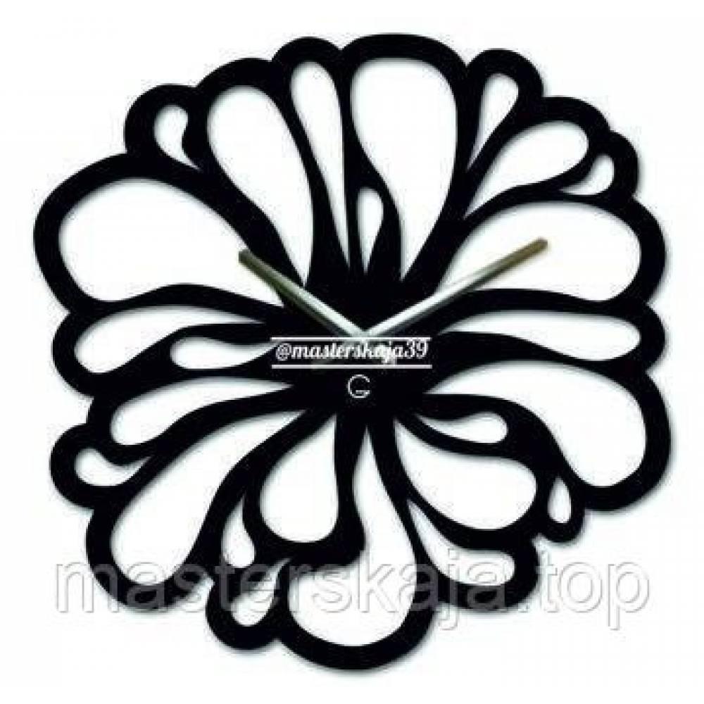 Интерьерные настенные часы (настінні годинники) декоративные Цветок