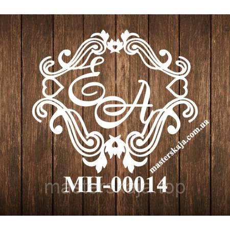 Свадебная монограмма герб МН-00014