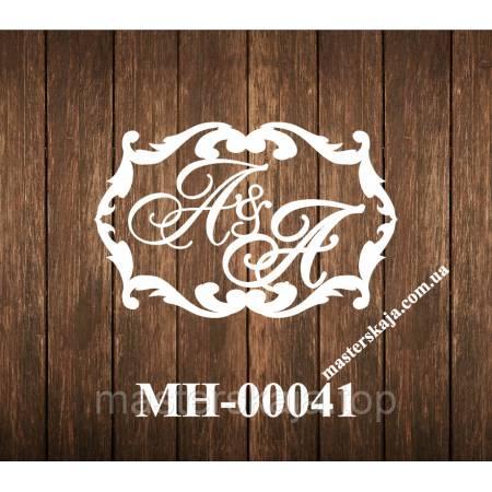 Свадебная монограмма герб МН-00041