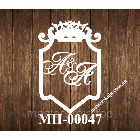 Свадебная монограмма герб МН-00047
