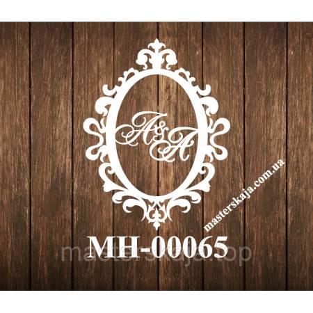 Монограмма овал МН-00065