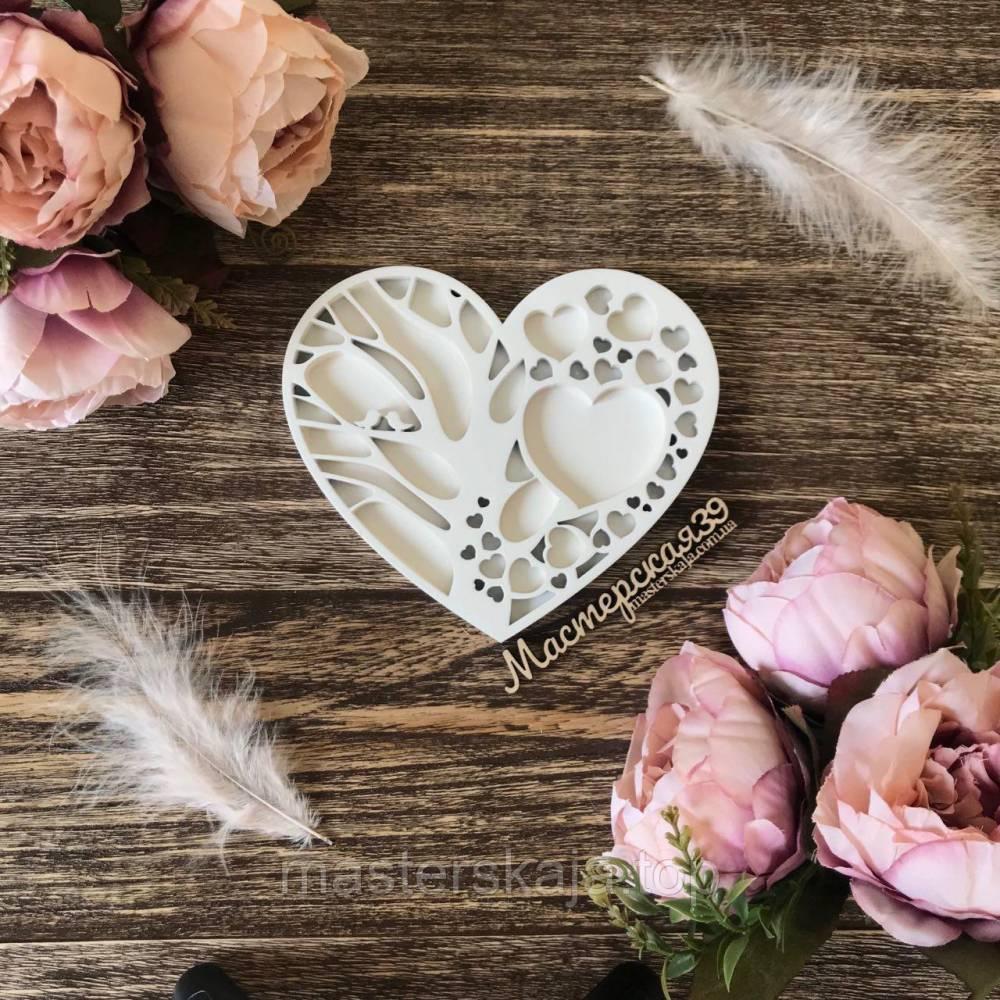 Шкатулка для колец, подставка под кольца «Дерево любви»