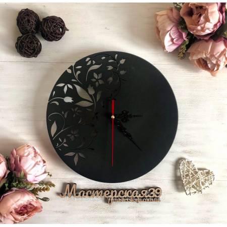 Настенные часы «Цветы абстрактные»