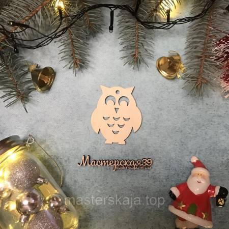 Новогодняя игрушка из дерева сова HP-20089
