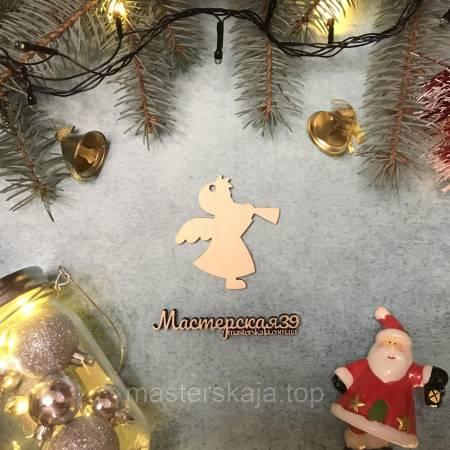 Новогодняя игрушка из дерева ангелок HP-20098