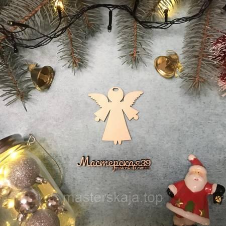 Новогодняя игрушка из дерева ангел HP-20119