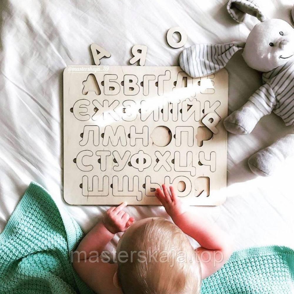 Пазлы алфавит для садика, азбука для детей, деревяный алфавит сортер, дерев