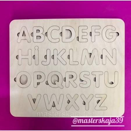 Пазлы деревяный алфавит для садика, Азбука для детей (английский алфавит сортер)