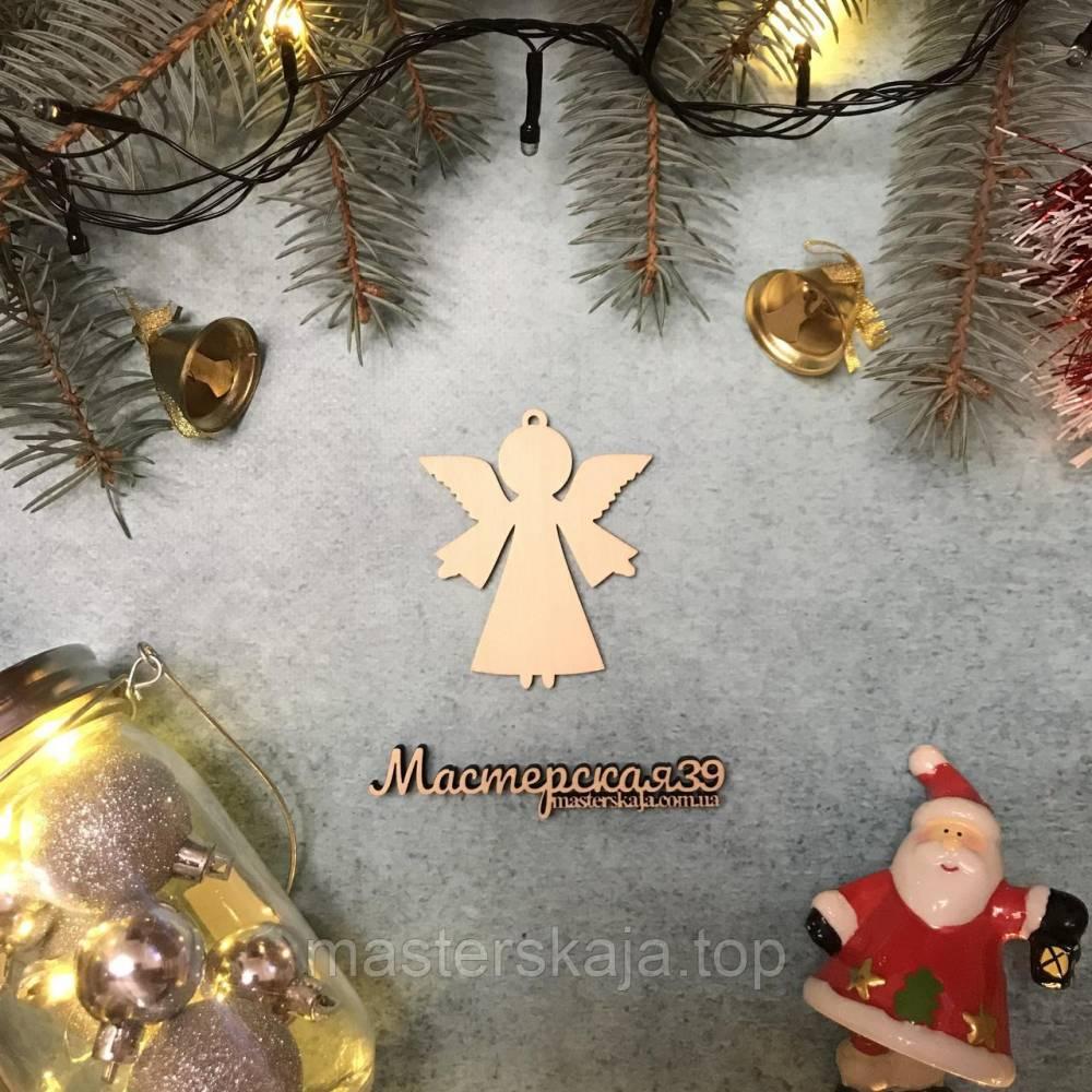 Новогодняя игрушка из дерева ангел HP-20115