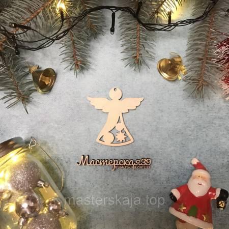 Новогодняя игрушка из дерева ангелок HP-20120